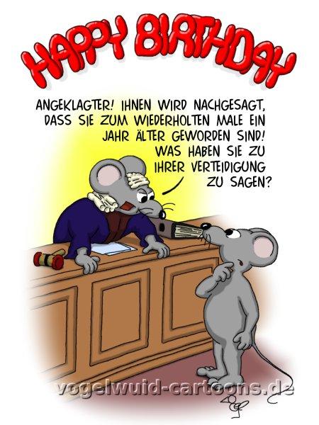 Geburtstagskarte Cartoon GG06   U0027Angeklagter! Ihnen Wird Nachgesagt, Dass  Sie Zum Wiederholten Male. ECard