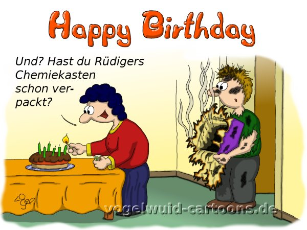 Geburtstag Cartoon Frisuren Frauen