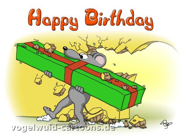 Vogelwuid Cartoons Witzige Grusskarten Geburtstag