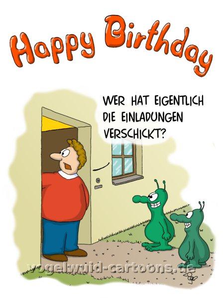 Vogelwuid Cartoons Witzige Grusskarten Geburtstagskarten