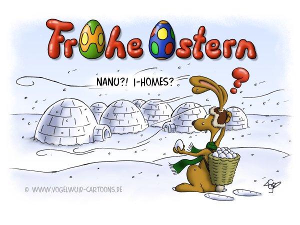 Vogelwuid Cartoons Witzige Grußkarten Osterkarten