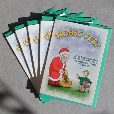 Lustige weihnachtskarten 4 spielkonsole